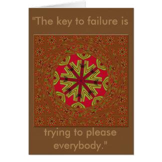 La llave a la tarjeta tradicional africana del