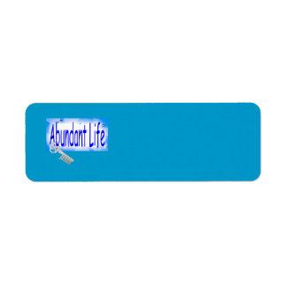 La llave a la vida abundante v2 (Juan 10: 10) Etiqueta De Remitente