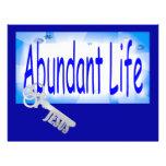 La llave a la vida abundante v2 (Juan 10: 10) Tarjetas Publicitarias
