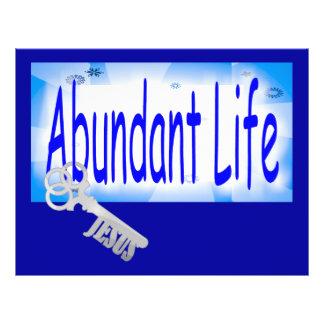 """La llave a la vida abundante v2 (Juan 10: 10) Folleto 8.5"""" X 11"""""""