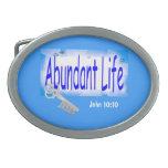 La llave a la vida abundante v2 (Juan 10: 10) Hebilla Cinturón Oval