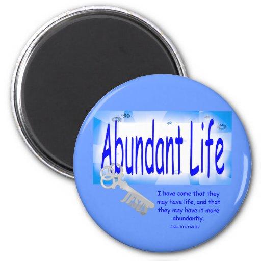 La llave a la vida abundante v2 (Juan 10: 10) Imán Para Frigorífico