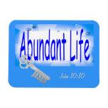 La llave a la vida abundante v2 (Juan 10: 10) Iman Rectangular