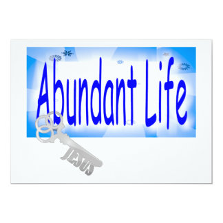 """La llave a la vida abundante v2 (Juan 10: 10) Invitación 5"""" X 7"""""""