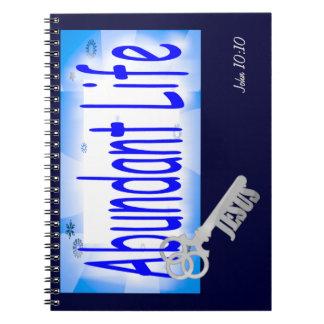 La llave a la vida abundante v2 (Juan 10: 10) Libros De Apuntes Con Espiral
