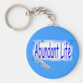 La llave a la vida abundante v2 (Juan 10: 10) Llaveros Personalizados