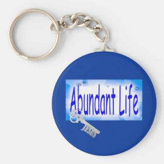 La llave a la vida abundante v2 (Juan 10: 10) Llavero Redondo Tipo Pin