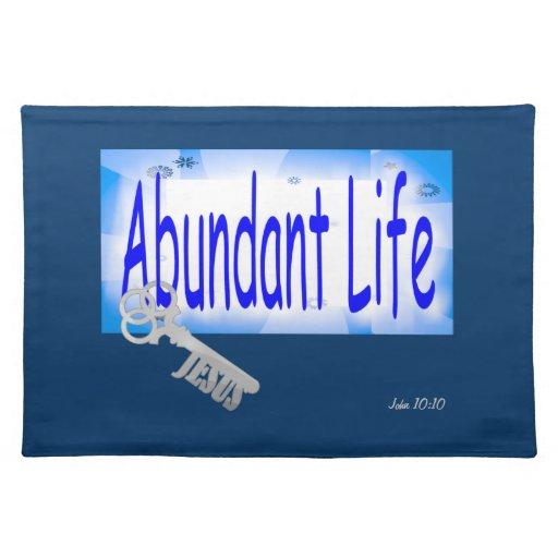 La llave a la vida abundante v2 (Juan 10: 10) Manteles Individuales