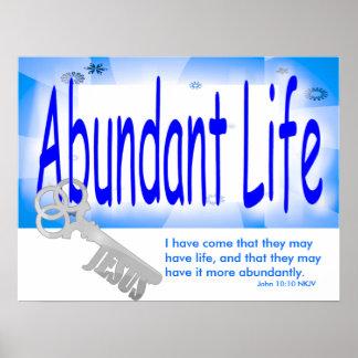 La llave a la vida abundante v2 (Juan 10: 10) Póster