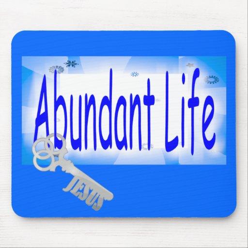 La llave a la vida abundante v2 (Juan 10: 10) Tapete De Ratón