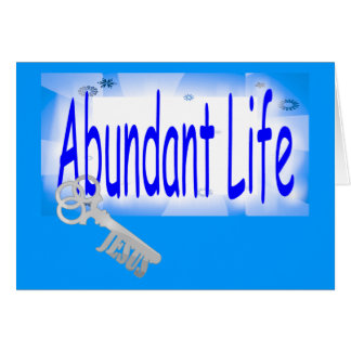 La llave a la vida abundante v2 (Juan 10: 10) Tarjeta De Felicitación