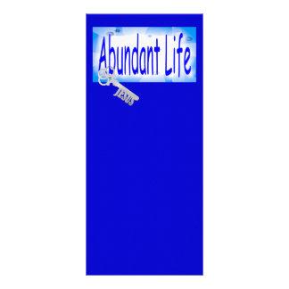 La llave a la vida abundante v2 (Juan 10: 10) Tarjeta Publicitaria