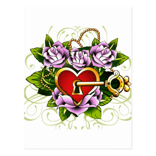 La llave a mi corazón de Janiece Senn Tarjeta Postal