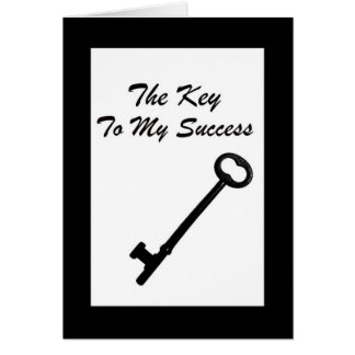 La llave a mi remisión del negocio del éxito le tarjeta de felicitación