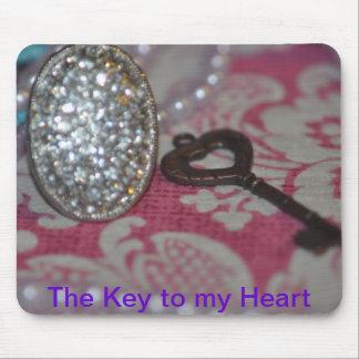 La llave a mis productos del corazón tapetes de ratones