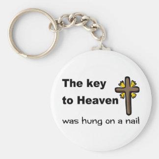 La llave al cielo fue colgada en un cristiano del  llaveros personalizados