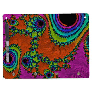 La llave de acrílico del fractal Trippy engancha Pizarras