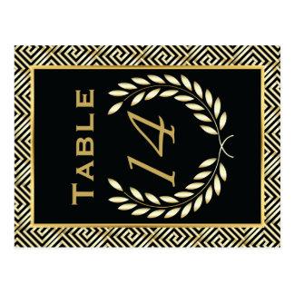 La llave griega y el laurel enrruellan número de postal