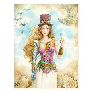 """""""La llave"""", muchacha de Steampunk Tarjeta Postal"""