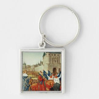La llegada de Charles V en París Llavero Personalizado