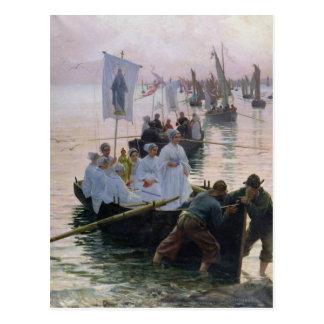 La llegada de la procesión de St Anne Postal