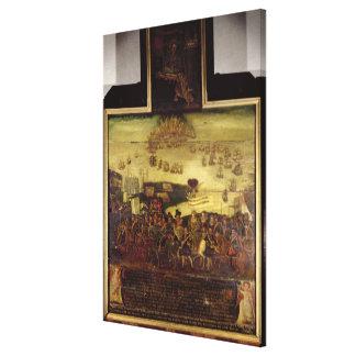 La llegada de la reina Elizabeth I en el tilburí Lona Estirada Galerías