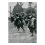 La llegada de Stuyvesant en New Amsterdam Póster