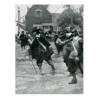 La llegada de Stuyvesant en New Amsterdam Tarjeta Postal