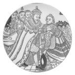 La llegada de su majestad Charles (1600-49) Princ Platos Para Fiestas