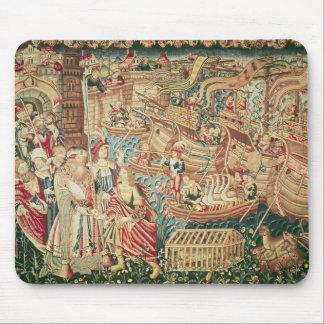 La llegada de Vasco da Gama en Calcutta Alfombrilla De Ratón