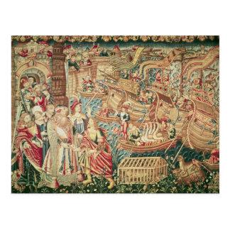 La llegada de Vasco da Gama en Calcutta Postal