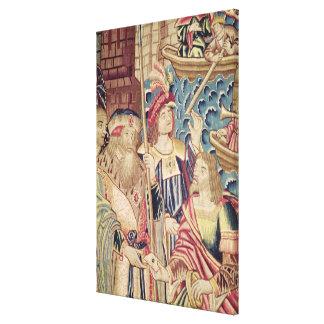 La llegada de Vasco da Gama en Calicut Lienzo Envuelto Para Galerias