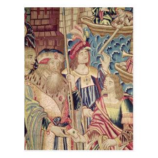 La llegada de Vasco da Gama en Calicut Tarjeta Postal