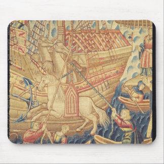 La llegada de Vasco de Gama en Calicut Alfombrillas De Raton