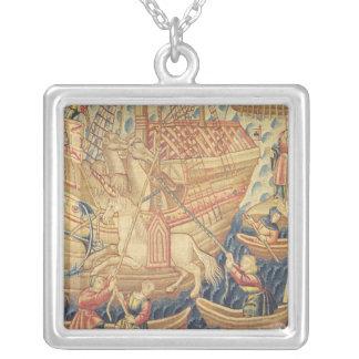 La llegada de Vasco de Gama en Calicut Colgante Cuadrado