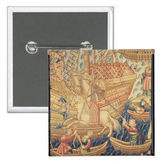 La llegada de Vasco de Gama en Calicut Pin Cuadrado