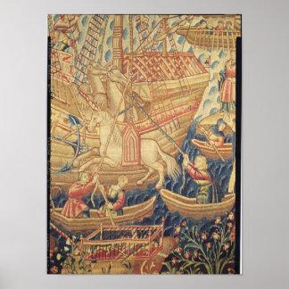 La llegada de Vasco de Gama en Calicut Póster