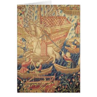 La llegada de Vasco de Gama en Calicut Tarjeta