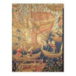 La llegada de Vasco de Gama en Calicut Tarjeta Postal