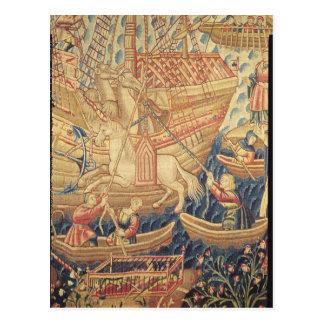 La llegada de Vasco de Gama en Calicut Postal