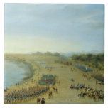 La llegada del ejército aliado en Itapiru, Paragua Azulejo Cuadrado Grande