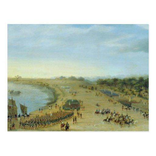La llegada del ejército aliado en Itapiru, Paragua Postal