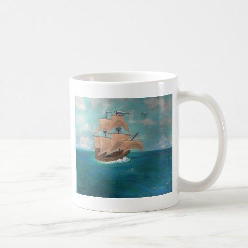 La llegada del Mayflower Tazas De Café