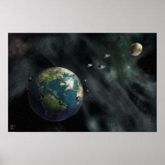 La llegada - sci fi, espacio, tierra, posters