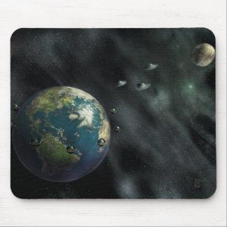 La llegada - tierra, luna, planetas, espacio mousepads
