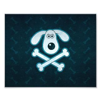 La lluvia azul del dibujo animado del perro fotografia