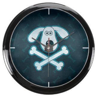La lluvia azul del dibujo animado del perro relojes aqua clock