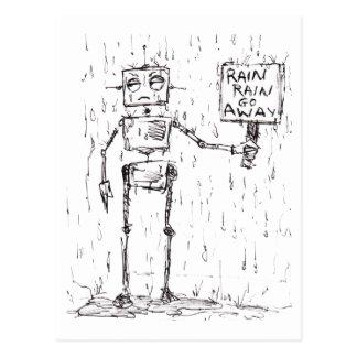 La lluvia de la lluvia sale postal
