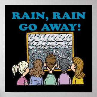 La lluvia de la lluvia sale póster