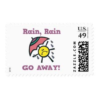 la lluvia de la lluvia sale sellos